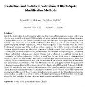 ارزیابی و اعتبار آماری روشهای شناسایی نقاط سیاه