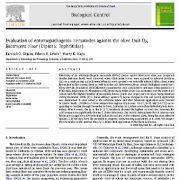 ارزیابی نماتد های بیمارگر حشرات در برابرمگس میوه زیتون Bactrocera oleae