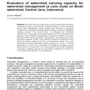 ارزیابی ظرفیت برد حوزهی آبخیز برای مدیریت حوزهی آبخیز