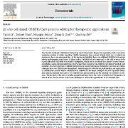ویرایش ژنوم CRISPR/Cas9 مبتنی بر سلول برون تنی برای کاربردهای درمانی