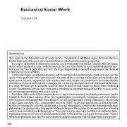 مددکاری اجتماعی وجودی