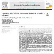 مطالعه اکتشافی  اختلال  جریان بصری پشتی در اوتیسم:سری های موردی