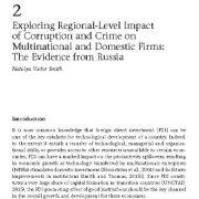 مطالعه تأثیر سطح منطقهای فساد و جرم بر روی شرکتهای داخلی و چند ملیتی