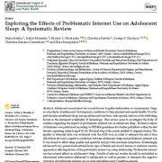 بررسی اثرات منفی استفاده از اینترنت بر خواب نوجوانان: مرور سیستماتیک