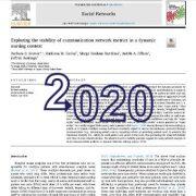 بررسی و کشف پایداری متریکها و معیارهای شبکهی ارتباطی