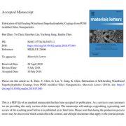 پوشش فوق آبگریز بر پایه آب خود ترمیم شونده از نانوذرات سیلیس POSS