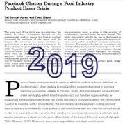 چتر (صفحهی گفت و گوی) فیسبوک در طی بحران محصولات صنایع غذایی