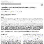عوامل مؤثر در اثربخشی بازاریابی انگیزه گرا (علت محور) یک فراتحلیل
