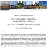 فاکتور های تاثیرگذار  بر بازدهی نیروی کار: نقطه نظرات کارکنان صنایع دستی