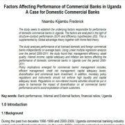 بررسی عوامل موثر بر عملکرد  بانک های تجاری در اوگاندا، بانک های تجاری داخلی