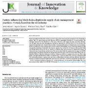 عوامل موثر بر پذیرش بلاکچین در شیوه های مدیریت زنجیره تامین سبز