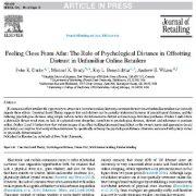 اعتماد از راه دور: مطالعه ی اهمیت فاصله روان شناختی در جبران و کاهش بی اعتمادی