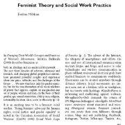 تئوری فمینیستی و شیوهی مددکاری اجتماعی