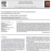 ارائه صورتهای مالی عملیات متوقف شده: عوامل تعیین کننده و پیامدها