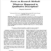تاکید بر روش های تحقیق تغییرات رخ داده بر توصیف کیفی؟