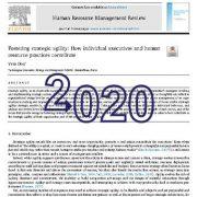 تقویت چابکی استراتژیک: نقش مدیران اجرایی و شیوه های منابع انسانی