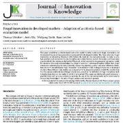 نوآوری مقرون به صرفه در بازار های توسعه یافته: مدل ارزیابی مبتنی بر معیار