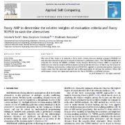 تحلیل سلسله مراتبی فازی وزن دهی نسبی معیار سنجه های ارزشیابی