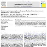مطالعات جذب انرژی اشعه گاما و ضریب انباشت پرتودهی