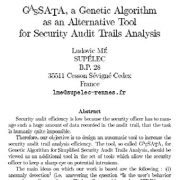 گاساتا (GASATA) یک الگوریتم ژنتیکی به عنوان ابزاری جایگزین برای تحلیل آزمونهای حسابرسی امنیت