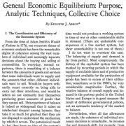 تعادل اقتصادی عمومی: هدف،  فنون تحلیلی، انتخاب جمعی