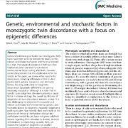 عوامل ژنتیکی، محیطی و تصادفی در عدم تطابق دوقلوهای همسان