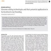 فناوریهای ویرایش ژنوم و کاربرد بالقوهی آنها در اصلاح محصولات باغی