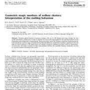 تفسیر رفتار ذوب  اعداد سحرآمیز هندسی خوشه های سدیم