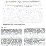 ارزیابی اثر  شرایط شرایط مورفولوژیکی و ساختاری بر روی وفور زمین لغزه ها