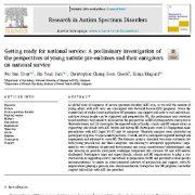 آمادگی برای خدمت سربازی: بررسی مقدماتی  دیدگاه های  نوجوانان اوتیستی و پرستاران