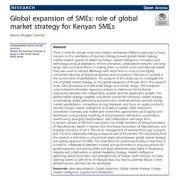 توسعهی جهانی بنگاههای کوچک و متوسط: نقش استراتژی بازار جهانی