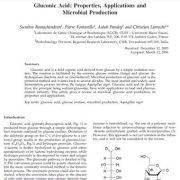 اسید گلوکونیک: خواص، کاربرد ها و تولید میکروبی