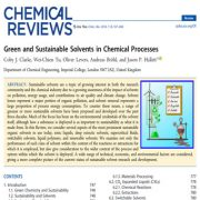حلالهای سبز و پایدار در فرآیندهای شیمیایی