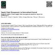 شیوه های مدیریت تامین سبز : اثرات آن روی عملکرد