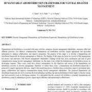 چارچوب توزیع و انسان دوستانه برای مدیریت بحران طبیعی