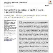 هموگلوبین A1c پیش بینی کننده شدت COVID ‐ ۱۹ در بیماران دیابتی است