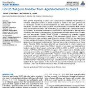 "<span itemprop=""name"">انتقال ژن افقی از آگروباکتریوم به گیاهان</span>"