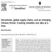 نعل اسب، زنجیره عرضه جهانی، و تهدید روز افزون چین: ایجاد راه کارهای ایده محور
