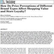 اثر ادراکات از قیمت انواع مختلف برند بر ارزش خرید و وفاداری به فروشگاه