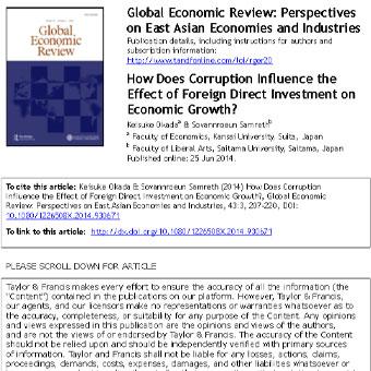 چگونه فساد بر اثر سرمایه گذاری مستقیم خارجی بر روی رشد اقتصادی تأثیر میگذارد؟