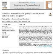چگونه تلاش حسابرسی بر کیفیت حسابرسی تأثیر میگذارد؟