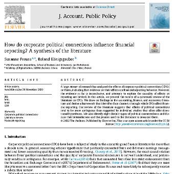 چگونه  ارتباطات سیاسی  شرکت بر  گزارش دهی مالی اثر دارد؟ مرور منابع