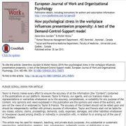 چگونه  استرس روانی در محیط کار بر تمایل حضور گرایی