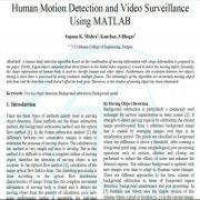 تشخیص حرکت انسان و نظارت تصویری با استفاده از متلب
