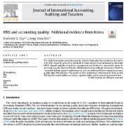 IFRS و کیفیت حسابداری: شواهدی از کره
