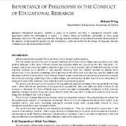 بررسی نقش علم فلسفه در   اجرا و انجام پژوهش های آموزشی