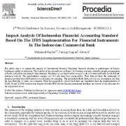 بررسی تأثیر استاندارد حسابداری مالی اندونزیایی بر اساس اجرای IFRS