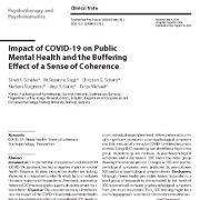 "<span itemprop=""name"">تأثیر کوید-۱۹(COVID-19) بر روی سلامت روان عمومی و اثر خنثی کننده حس انسجام</span>"