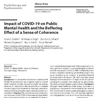 تأثیر کوید-۱۹(COVID-19) بر روی سلامت روان عمومی و اثر خنثی کننده حس انسجام
