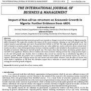 تأثیر ساختار مالیات غیر نفتی بر رشد اقتصادی نیجریه: شواهد بیشتر از ARDL
